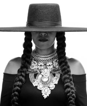 Michelle Obama dressed as Beyonce.