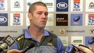 Former Western Force captain Matt Hodgson speaks to the media after Tuesday's ruling.
