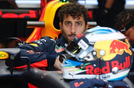 Australian Formula One driver Daniel Ricciardo of Red Bull Racing in action during the 2017 Formula One Grand Prix of ...