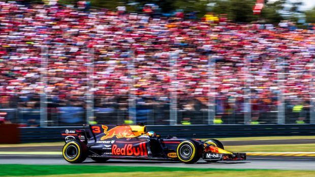 Ricciardo in action at the Italian Grand Prix last week.