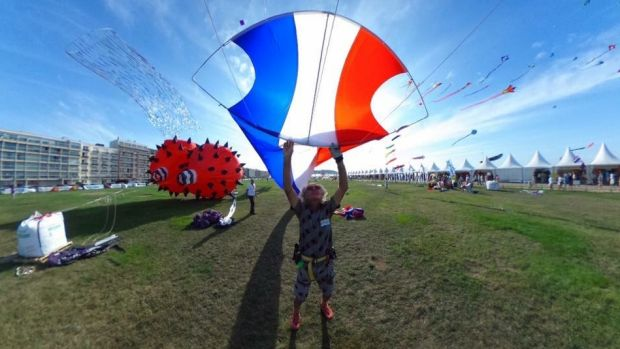 Kite maker Andreas Agren says he became interested in kites not as a child but at the age of 42.