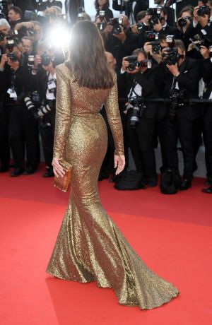 Monica Bellucci attends the 70th Anniversary screening during the 70th annual Cannes Film Festival.