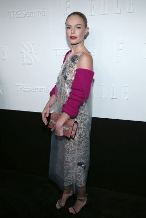 Actress Kate Bosworth attends the ELLE, E! and IMG New York Fashion Week kick-off party.