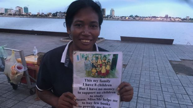 Yem Chanthy is a street beggar in Cambodia's capital Phnom Penh,and the adopted daughter of James Ricketson.