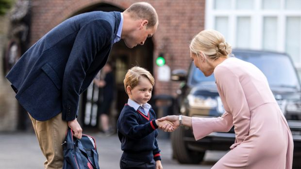 Prince George's first day of school went 'well': William