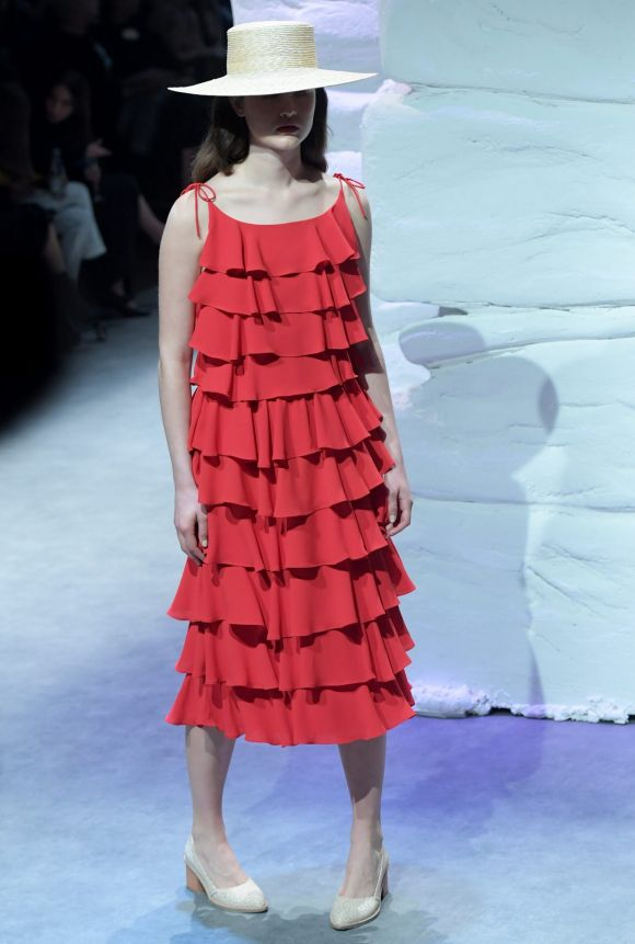 Wednesday: There was an element of surprise to the collection by Bul, which is known for its muted colour palette but ...