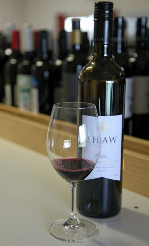 Shaw Vineyard Estate's winning wine had strong blackcurrant and earthy notes.