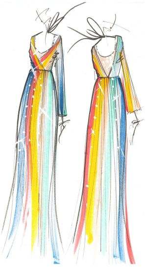 An illustration from Tome's spring collection, showing in New York Sunday.