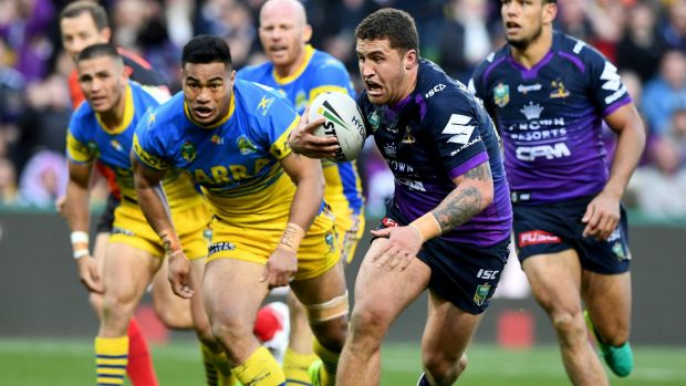 Storm advance in tense clash over Eels