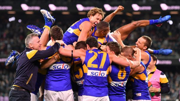 The Eagles were literally flying high after the epic, final-siren win.