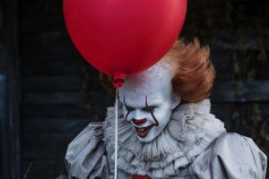 Bill Skarsgard as Pennywise in the new It film.