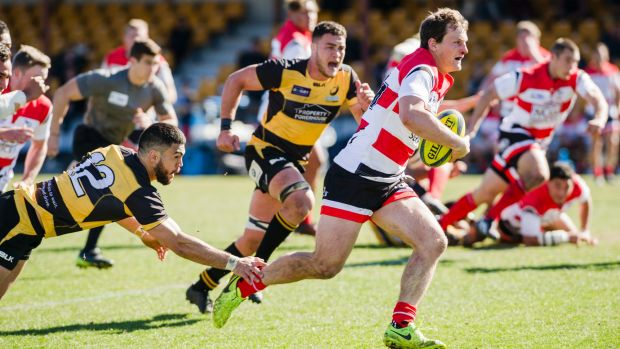 Canberra Vikings centre James Dargaville set up the match-winning try after breaking his nose.