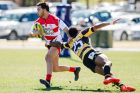 Canberra Vikings v Perth Spirit in National Rugby Championship rugby union. Canberra Vikings right wing Andrew Muirhead, ...