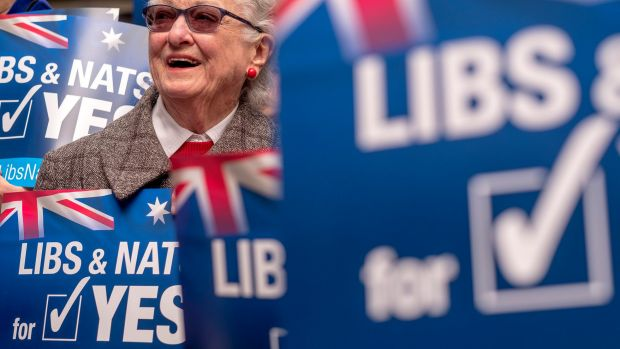 Noelle Christensen attends the Victorian Launch of the 'Liberals and Nationals for YES' Campaign.