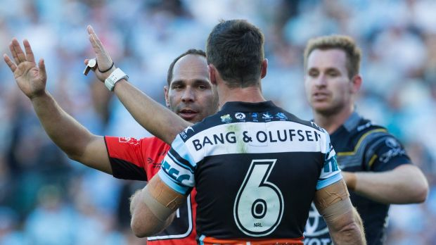 Cronulla's James Maloney was sent to the sideline for 10 minutes during the game against North Queensland.