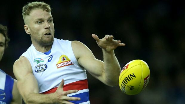 New tricks: Essendon are reported to be interested in signing Western Bulldogs forward Jake Stringer.