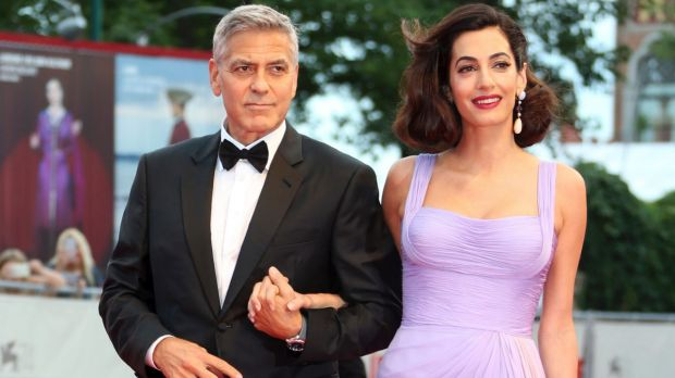 George Clooney and Amal Clooney at the premiere of Suburbicon at the Venice Film Festival.