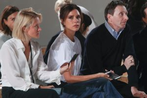 Victoria Beckham, center, watches the rehearsal of her Spring/Summer 2018 fashion show during New York Fashion Week, ...