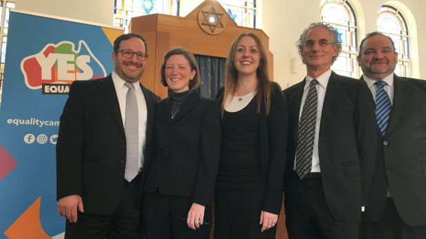 Rabbis Rafi Kaiserblueth, Nicole Roberts, Jacqueline Ninio, Jeffrey Kamins and the Reverend Sam Zwarenstein voice their ...