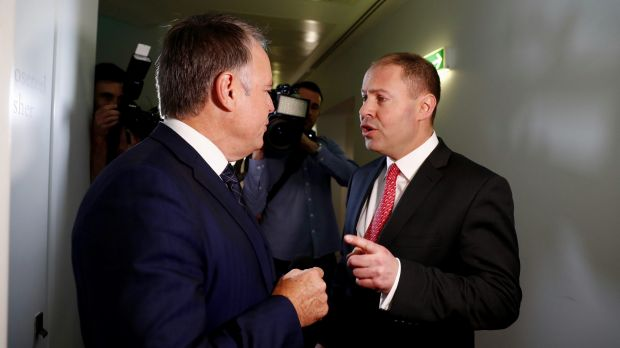 Environment and Energy Minister Josh Frydenberg has an argument with Labor MP Joel Fitzgibbon on energy issues as they ...