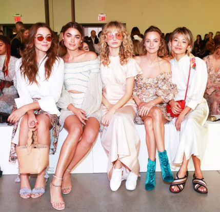 Demi Harman, Bambi Northwood Blyth, Annabella Barber, Yan Yan Chan in the FROW at Zimmermann's spring 2018 Goldentime ...