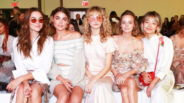 (Left to right) Sydneysiders Demi Harman, Bambi Northwood Blyth, Annabella Barber, Nadia Fairfax and Yan Yan Chan FROW ...