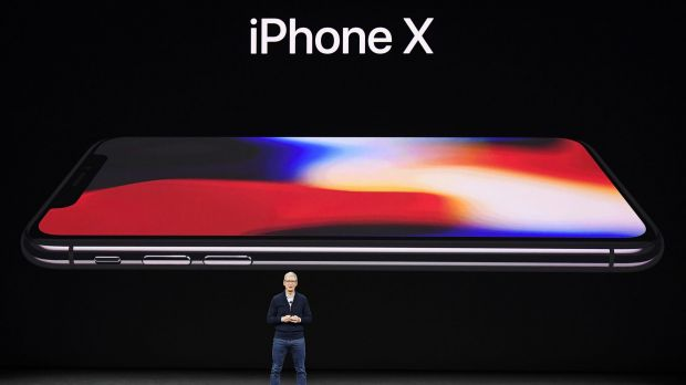 Cook announces the new iPhone X.