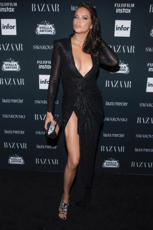 Adriana Lima attends the Harper's BAZAAR 'Icons by Carine Roitfeld' party.
