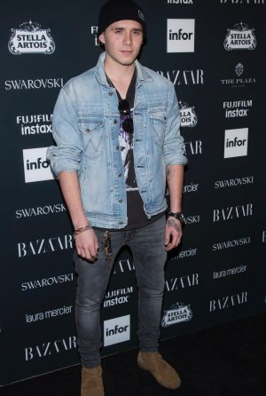 Brooklyn Beckham attends the Harper's BAZAAR 'Icons by Carine Roitfeld' party.