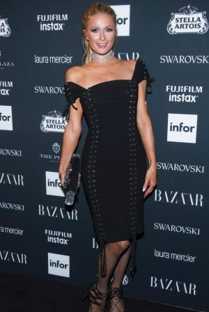Paris Hilton attends the Harper's BAZAAR 'Icons by Carine Roitfeld' party.
