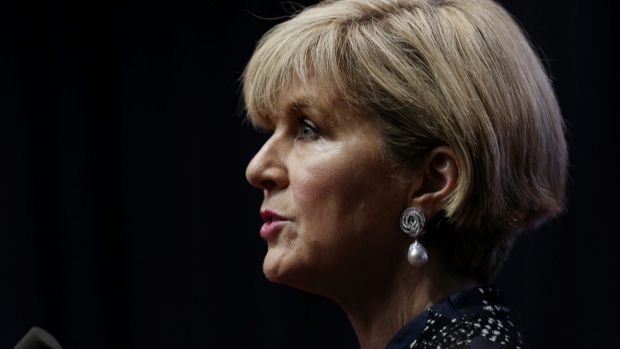 """It is up to him to explain the differences between his opinion then and his opinion now,"" Julie Bishop said about ..."