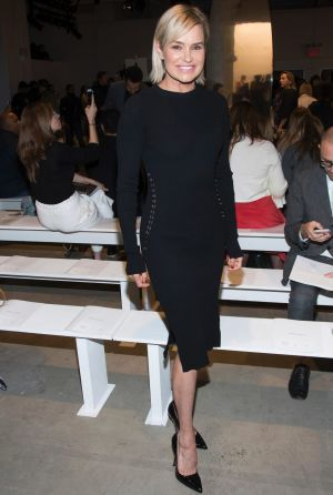 Yolanda Hadid attends the Prabal Gurung fashion show as part of NYFW Spring/Summer 2018 .