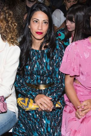 Huma Abedin attends the Prabal Gurung fashion show as part of NYFW Spring/Summer 2018.