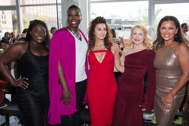 Danielle Brooks, Leslie Jones, Gina Gershon, Patricia Clarkson and Vanessa Williams attend the Christian Siriano fashion ...