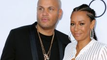 Stephen Belafonte and Mel B during happier times last year.