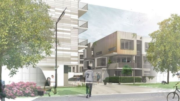 A view of the proposed Braddon development.