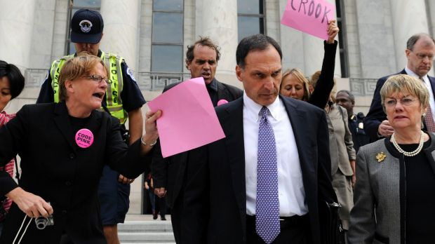 Lehman Brothers Holdings chief executive Richard Fuld is heckled by protesters. The failure of Lehman Brothers sent the ...