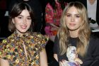 Jesinta Franklin (R) and fashion blogger Carmen Hamilton at the Coach spring 2018 show during New York Fashion Week on ...