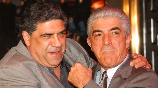 Frank Vincent (right) with fellow Sopranos star Vincent Pastore.