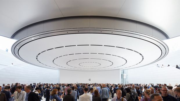 The hands-on area of the Steve Jobs Theater.