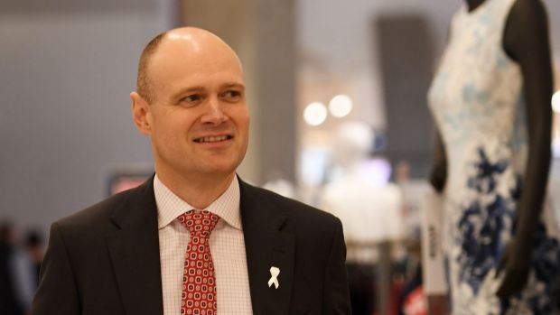 Myer boss Richard Umbers after handing down the company's full year results.