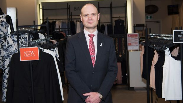 Myer chief executive Richard Umbers faced criticism from Mr Lew.