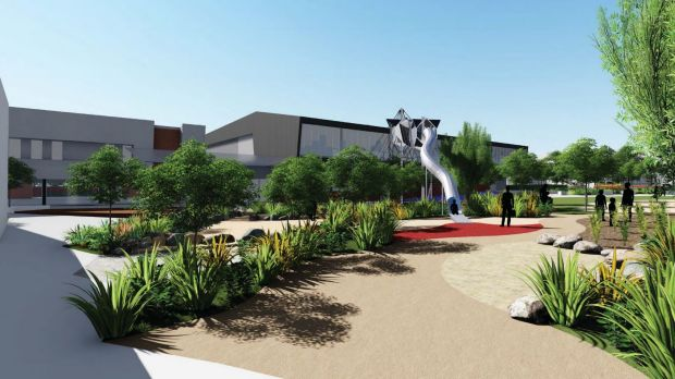 An artist's impression of Lauriston's planned sports and wellness centre.