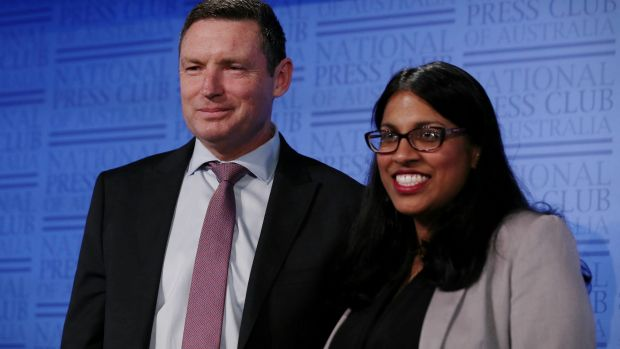 Opponents: Lyle Shelton, managing director of the Australian Christian Lobby and Karina Okotel, vice-president of the ...