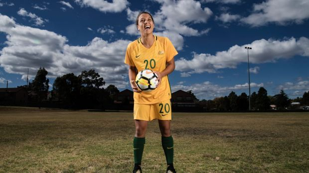 Sam Kerr is on a shortlist of 10 for the women's player of the year award.