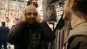 Antenna Documentary Film Festival.?stills from doco Mr Gay Syria.?Mahmoud Hassino putting on tiara. credit: Les Films ...
