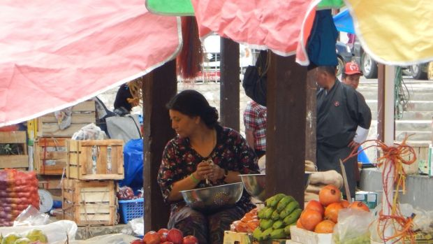 Seventy per cent of Bhutan's fruit and vegetables is organic and the government target is 100 per cent.