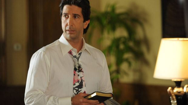 David Schwimmer: stars with Catherine Keener in the podcast, Homecoming.