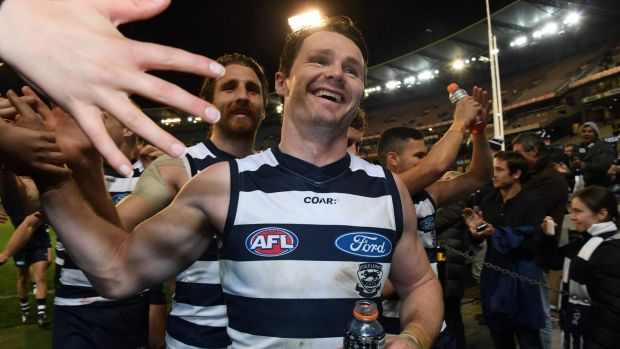The Cats, led by Patrick Dangerfield, found their mojo to storm into a preliminary final against the Crows.