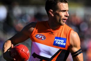 Back in town: Brett Deledio will be hoping to bring down the Tigers.